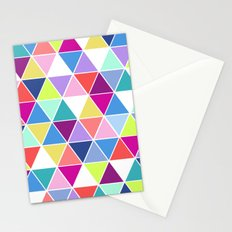 Multi Colour Triangle; Stationery Cards