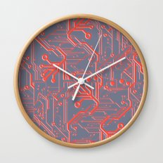 1982 Red Wall Clock