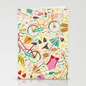 Seaside Cycle Stationery Cards