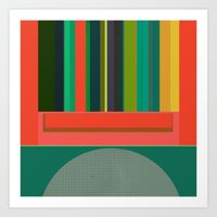 Stripe Transmission Art Print