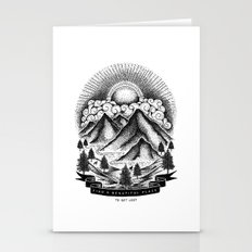 FIND A BEAUTIFUL PLACE TO GET LOST (White) Stationery Cards