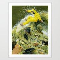 Coastal Pollution Art Print