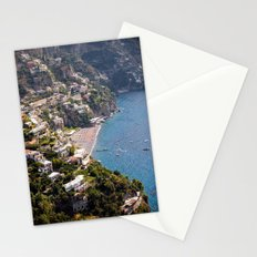 Positano Italy Harbor - Mediterranean Sea Stationery Cards