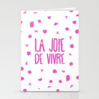 Pink French Typography B… Stationery Cards