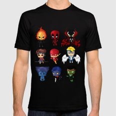 Chibi Heroes Set 2 SMALL Mens Fitted Tee Black