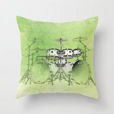 Jazz Drums Throw Pillow