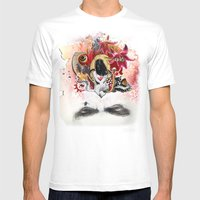 MINGA x Sleepless is the Watchful Eye Mens Fitted Tee White SMALL