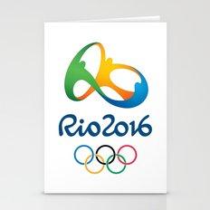 olimpics rio best logo 2016-brazil Stationery Cards