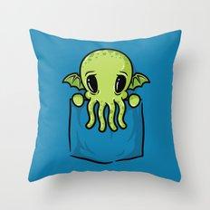 Pocket Cthulhu Throw Pillow