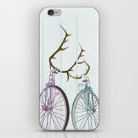 Bicycles in Love iPhone & iPod Skin