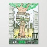 More Green Less Grey Canvas Print