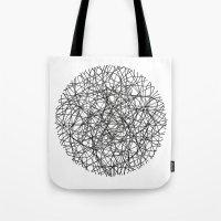 Circle / Lines Tote Bag
