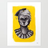 Seen in Yellow Art Print