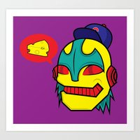 Cheeze Talk Art Print