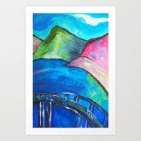 Heart Bridge Art Print