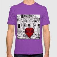 Buffalo Love Black White… Mens Fitted Tee Ultraviolet SMALL