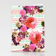 Flower In The Tribe Stationery Cards