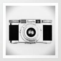 Paxette Vintage Camera Art Print