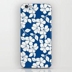 Hibiscus Floral: Marine Blue iPhone & iPod Skin