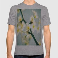 Yellow Mens Fitted Tee Athletic Grey SMALL