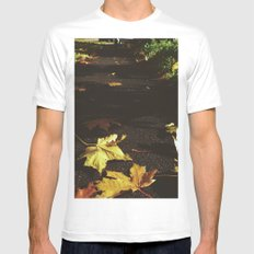 Down the path SMALL Mens Fitted Tee White