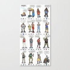 NBA Ageisms Canvas Print