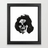 Norman Bates' Auntie Liz (Liz Taylor Skullface) Framed Art Print