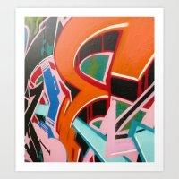 graffiti Art Prints featuring Graffiti by Dreks