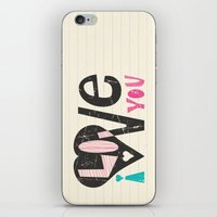 Love Note iPhone & iPod Skin
