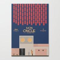 Mon Oncle - Jacques Tati Movie Poster Canvas Print