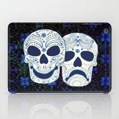 Comedy-Tragedy Sugar Skulls Cyan iPad Case
