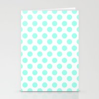 Mint Polka Dots Stationery Cards