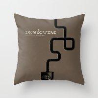 Iron & Wine Throw Pillow
