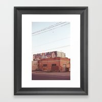 Down On H Street Framed Art Print
