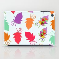 iPad Case featuring Cute Leaves  by Luizavictorya72