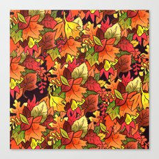 Leaf Pile Canvas Print