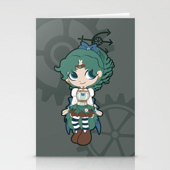 Steampunk Sailor Neptune - Sailor Moon Stationery Card
