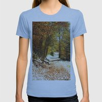 The First Snow Womens Fitted Tee Athletic Blue SMALL