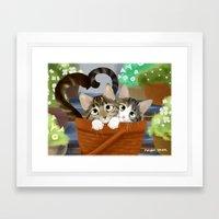Kitty Cat Love Framed Art Print