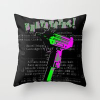 BRATATATAT! Throw Pillow