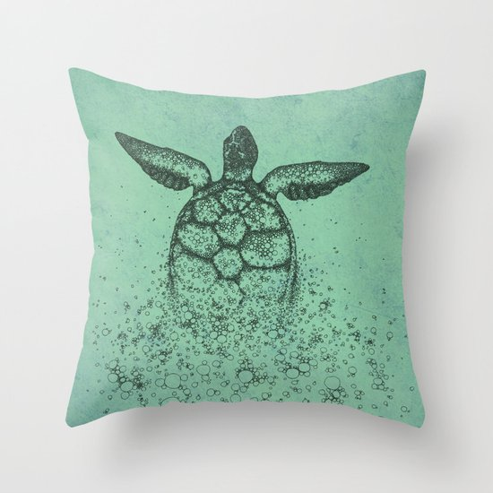 Into_The_Sea Throw Pillow