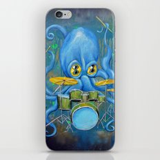 Octopus on Drums iPhone & iPod Skin