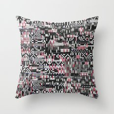 Comfortable Ambiguity (P/D3 Glitch Collage Studies) Throw Pillow