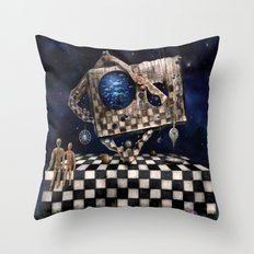 Aqua Space Throw Pillow