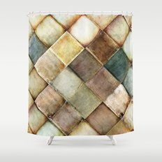 diamond path Shower Curtain