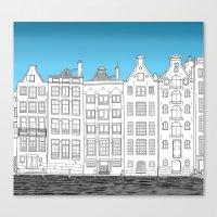 Dancing Houses, Amsterda… Canvas Print