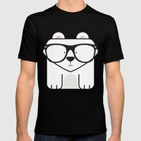 Hipster Polar Bear Art P… Mens Fitted Tee Black SMALL