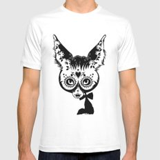Fox White Mens Fitted Tee SMALL