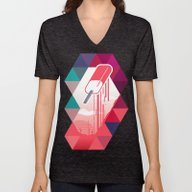 Unisex V-Neck featuring Watermelon Popsicle by Spires