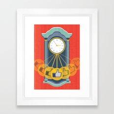 Wasting Time Online Framed Art Print